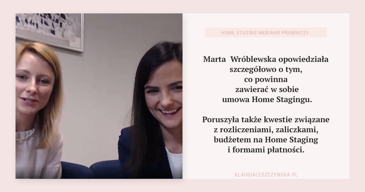 Marta Wróblewska opowiedziała co zawiera umowa Home Stagingu